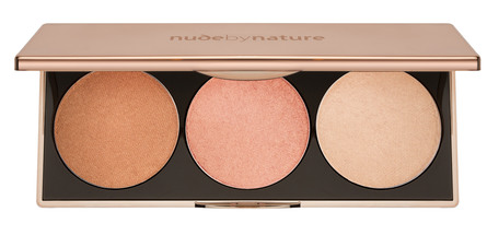Nude by Nature Contour & Highlight Trio Palette Light