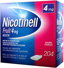Nicotinell Fruit tyggegummi 4 mg 204 stk