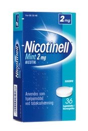 Nicotinell Mint sugetablet 2 mg 36 stk