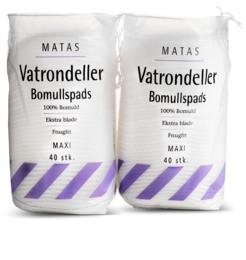 Matas Striber Matas Vatrondeller Maxi 2 x 40 stk.