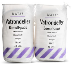 Matas Striber Vatrondeller Maxi 2 x 40 stk.