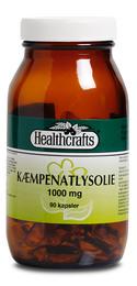 Kæmpenatlysolie 1000 mg Healthcrafts 90 kap