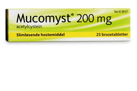 Mucomyst Brusetabletter 200 mg 25 stk
