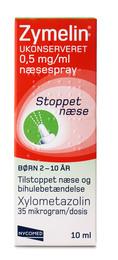 Zymelin Næsespray 0,5 mg/ml 10 ml, børn 2-10 år