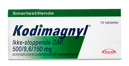 Kodimagnyl 500 mg. 10 tabletter