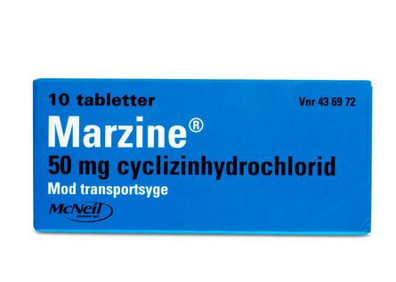 Marzine® 50 mg 10 tabl.