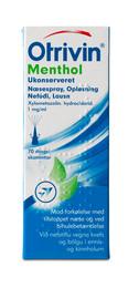 Otrivin Menthol Næsespray 1 mg/ml 10 ml