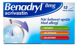 Benadryl 8 mg 12 kapsler