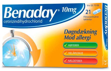 Benaday 10 mg 21 tabl.