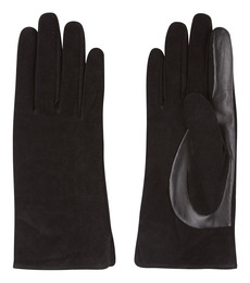 Laze skind/ruskind handske Sort S/M