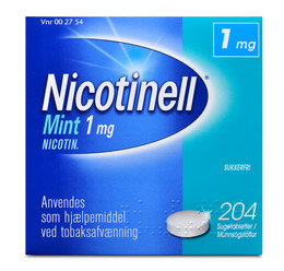 Nicotinell Mint sugetablet 1 mg 204 stk