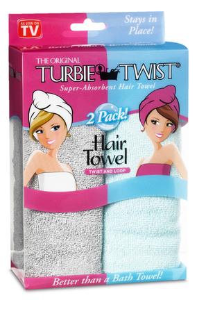 Turbie Twist Microfiber turban 2 pak