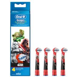 Oral-B (Braun) Udskiftelige tandbørstehoveder til elektriske tandbørster med Star Wars 4 stk.