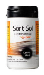 Sort Sol D3 vitamin 10 ug m.lakridssmag 90 tab