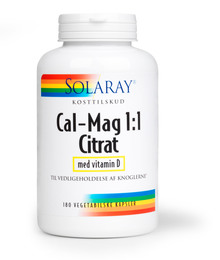 Calcium Magnesium Citrat 1:1 m. D-vit. 180 kap