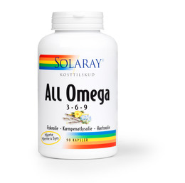 Solaray All Omega 3-6-9, 90 kapsler