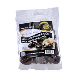 Cashewnødder m. mørk stevia chokolade 90 g