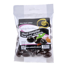 Mandler m. mørk stevia chokolade 90 g