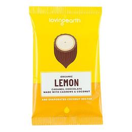 Chokolade Lemon Ø m cashew & kokos Loving E 30 g