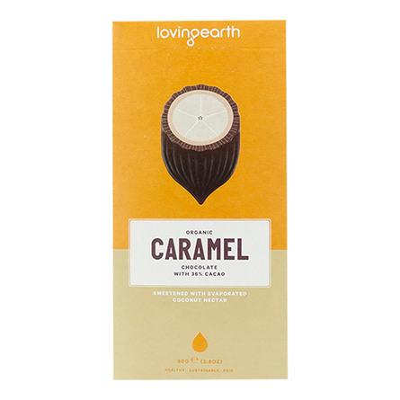 Chokolade Caramel Ø m cashew & kokos Loving 80 g