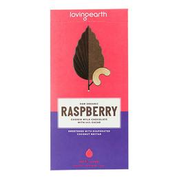 Chokolade Raspberry Ø m 44% kakao & cashew 80 g
