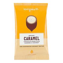 Chokolade Caramel Ø m cashew & kokos Loving 30 g