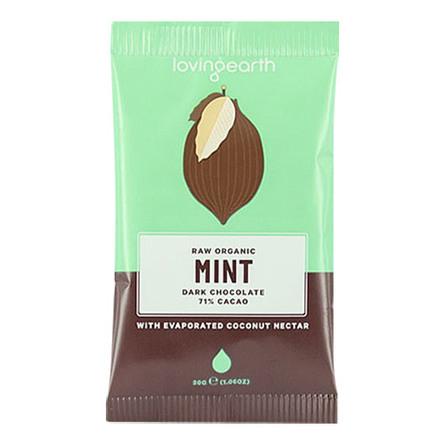Chokolade Mint Ø m mynte og 71% kakao Lovin 30 g