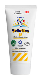 Matas Kids Sollotion faktor 15 Rejsestørrelse 80 m