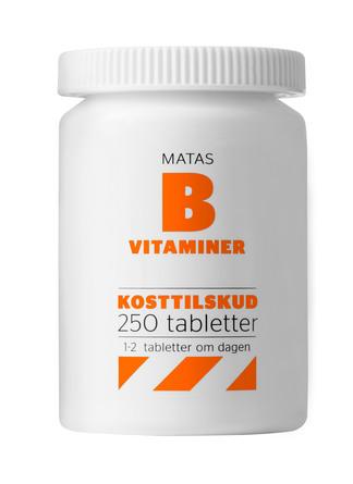 Matas Striber B-vitaminer 250 tabl.