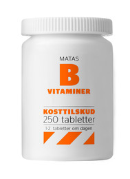 Matas Striber B-vitaminer 250 tabl.