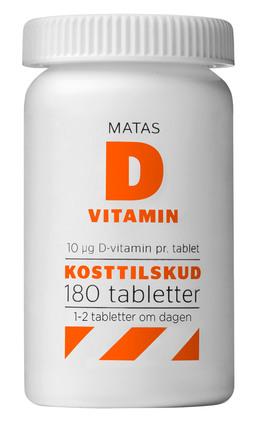 Matas Striber D-vitamin 10 mcg 180 tabl.