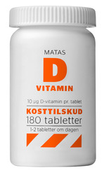 Matas Striber Matas D-vitamin 10 mcg 180 tabl.
