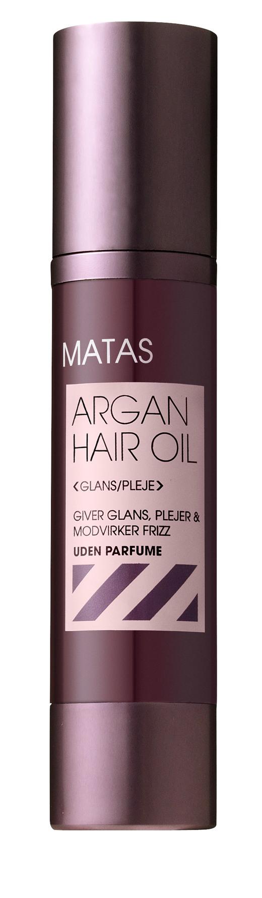 olie til krøllet hår