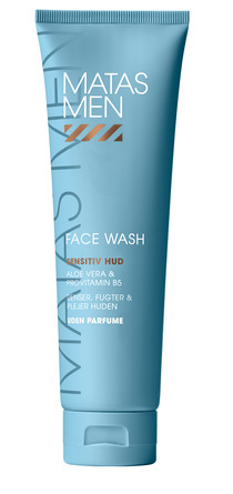 Matas Striber Men Face Wash til Sensitiv Hud Uden Parfume 150 ml