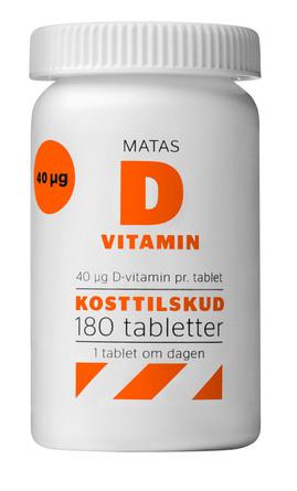 Matas Striber D-vitamin 40 mcg 180 tabl.