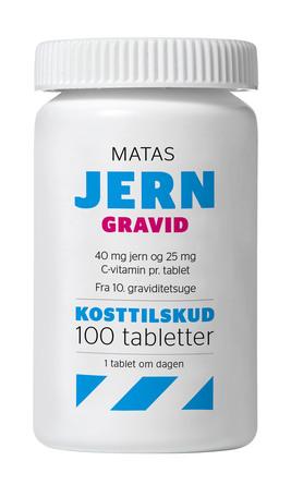 Matas Striber Jern Gravid 100 tabl.