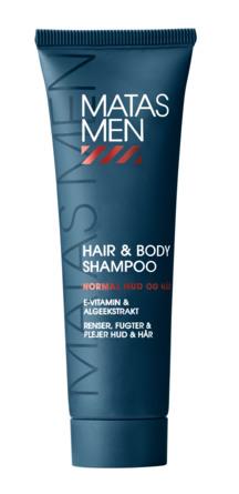 Matas Striber Men Hair & Body Shampoo til Normal Hud 50 ml, rejsestørrelse