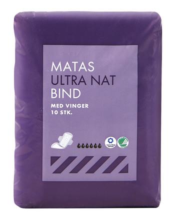 Matas Striber Ultra Nat Bind 10 stk.