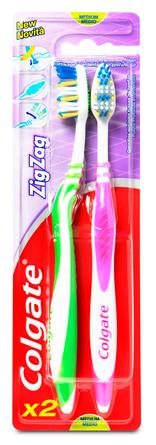 Colgate Tandbørste Zig-Zag Medium 2-Pak