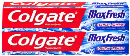 Colgate Max Fresh Cool Mint tandpasta 2x75 ml 2 x 75 ml