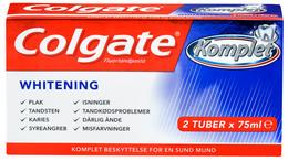 Colgate Komplet+Whitening tandpasta 2x75 ml