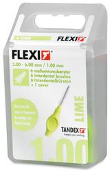 Tandex Mellemrumsbørste Flexi Fine kone 6stk. Lime