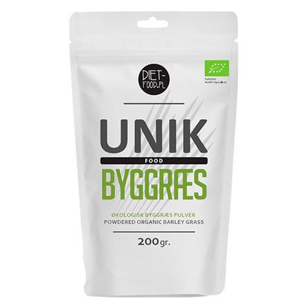 Unik Food Byggræs pulver Øko