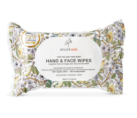 Storksak Organics Hand & Face Wipes 25 stk.