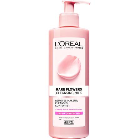 L'Oréal Paris Rare Flower Rensemælk Sensitiv Hud 400 ml