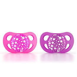 Twistshake sutter silikone  Pink/Purple 0-6 mdr.