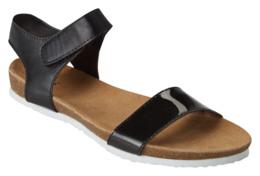 Lux Sandal m. Velcro Sort 37