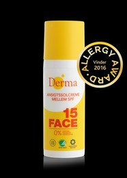 Derma Ansigtssolcreme SPF 15, 50 ml