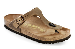 Birkenstock Gizeh Lea Tobacco Brown Str. 37