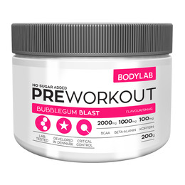 BodyLab Pre-Workout Bubblegum Blast 200 g